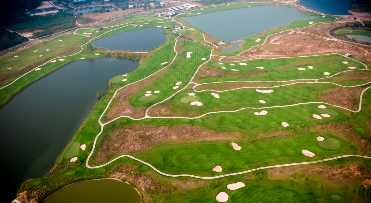 Siam Country Club - Aerial view of a maturing course
